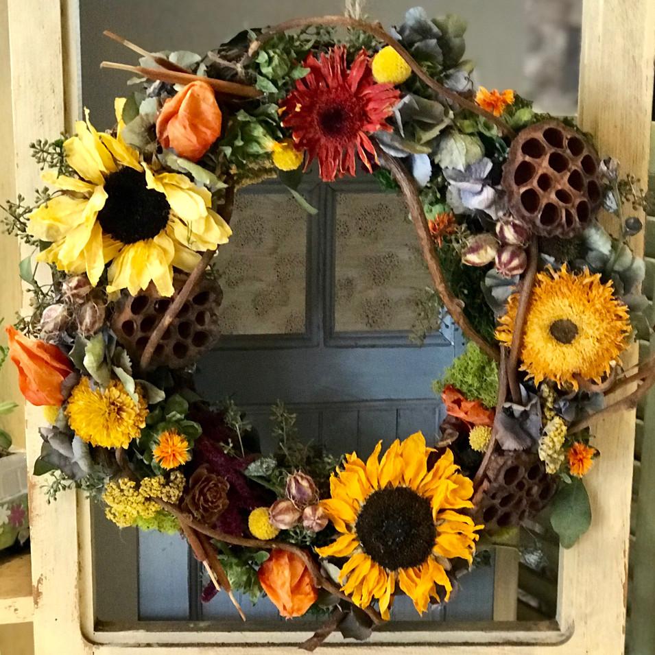 Handmade Dried Flower Wreath - NEW! CALL