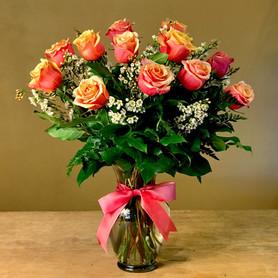 Premium Cherry Brandy Orange Roses