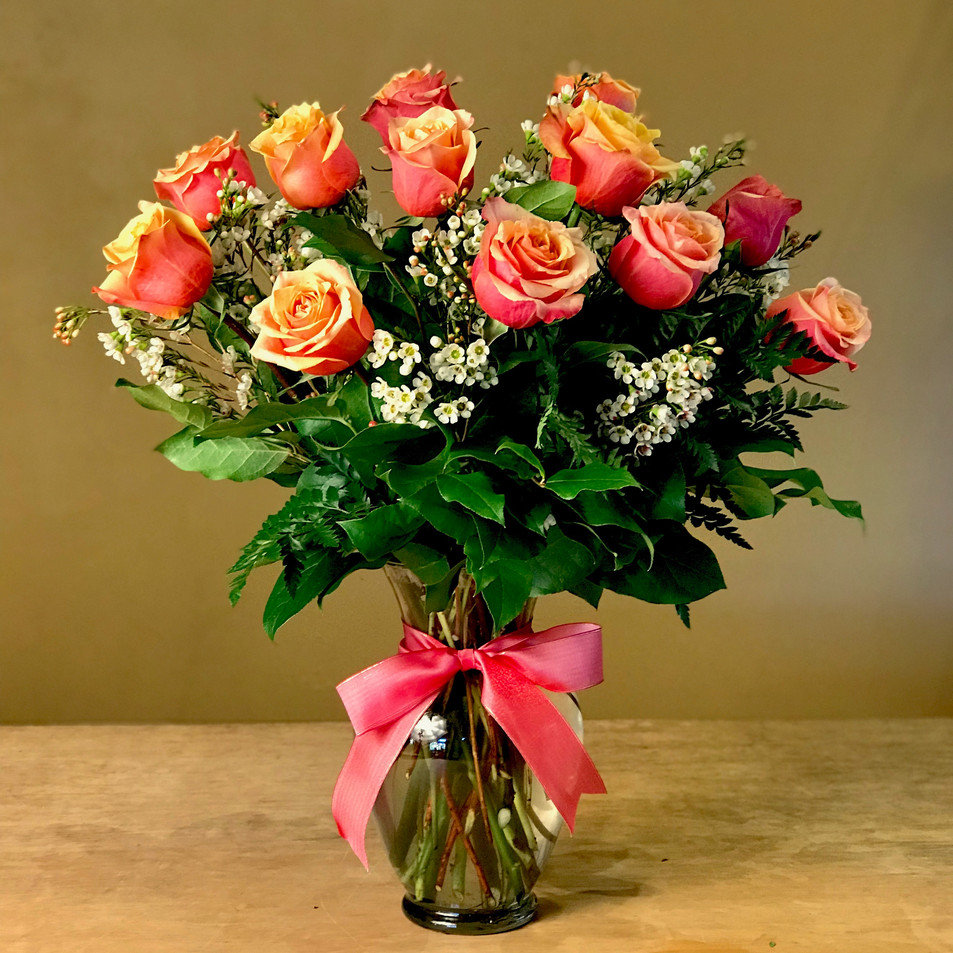 Premium Cherry Brandy Orange Roses