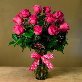 Premium Hot Pink Roses - Click to order on our Shopping Site