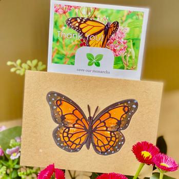 Handmade Card and Polinator Seeds with Garden