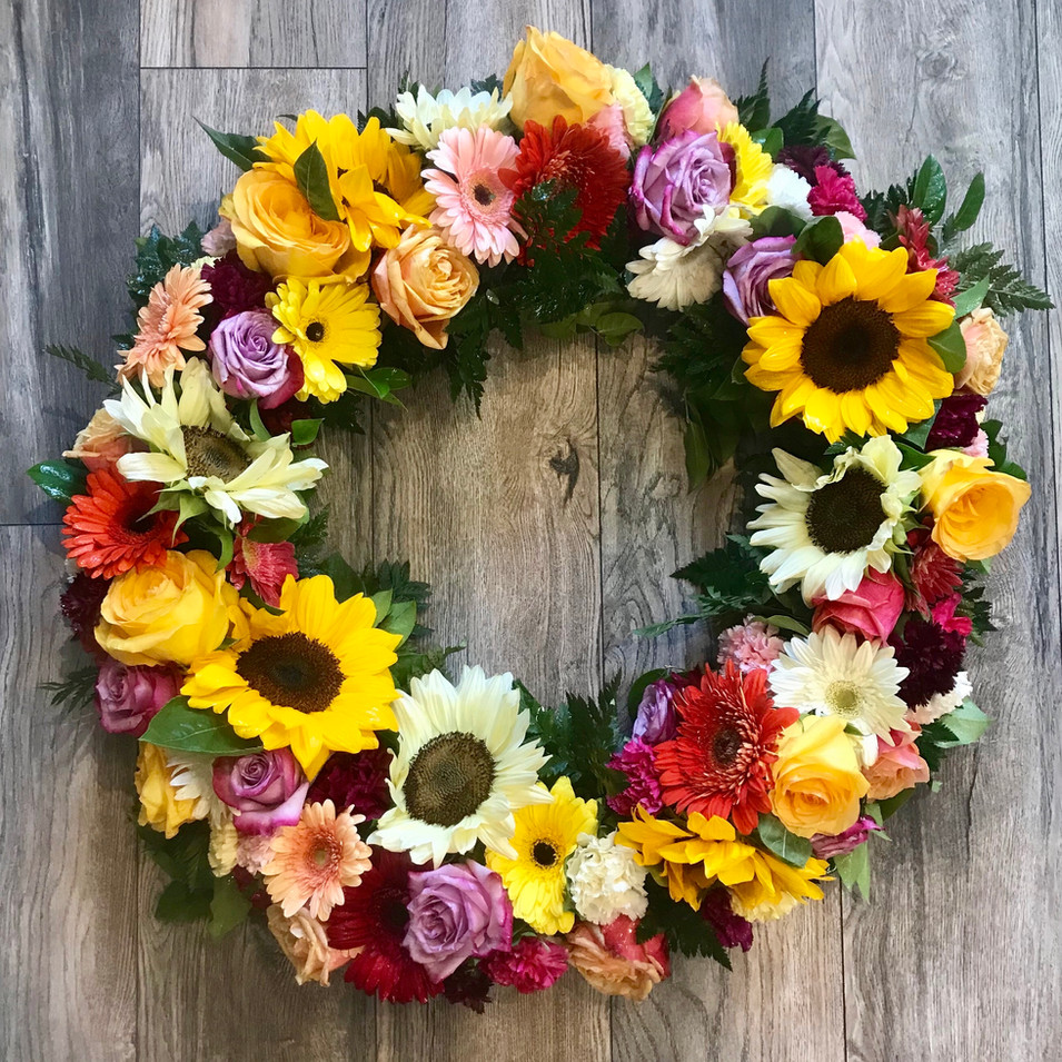 Fresh Flower Wreath - NEW! CALL