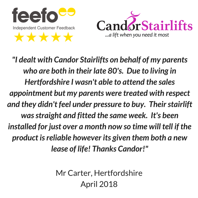Stairlift review for Candor Care