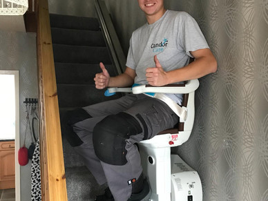 Stairlift donations made to two local families in need