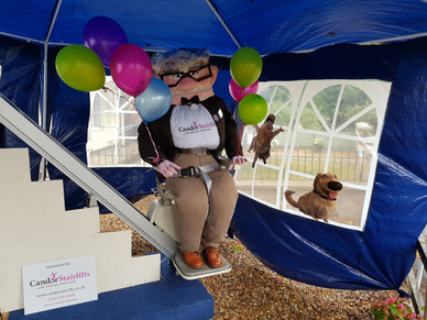 """Win the stairlift featured in our """"Staircrow"""" Heather Scarecrow Festival entry..."""