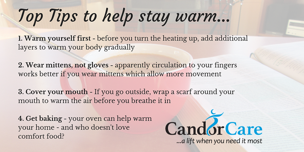 Combating the cold. Top tips to stay warm