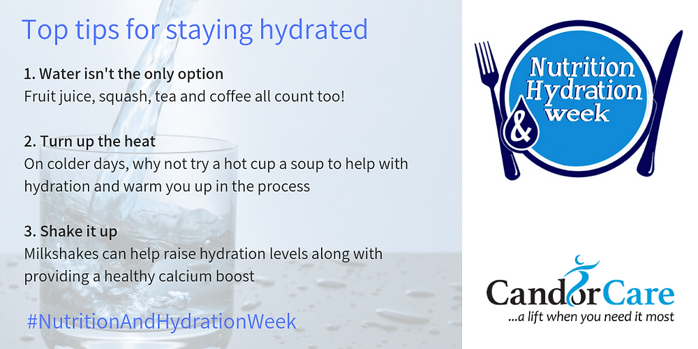 Candor Care Nutrition and Hydration week