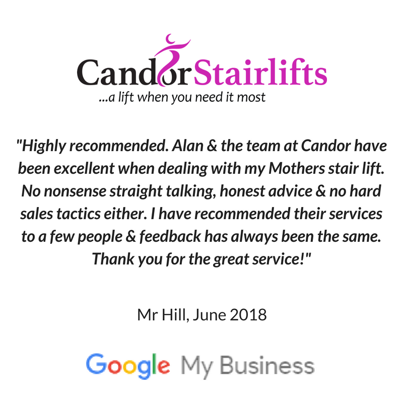 Candor Care Stairlifts 5 star review