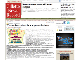 Paine Pacific Talks to Gilette News