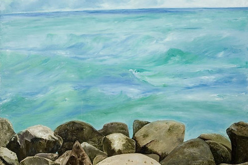 Sea Water Painting - A Story with Stones