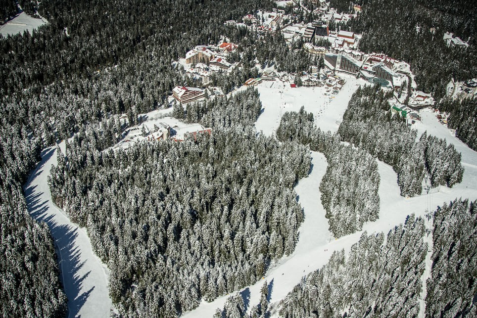 Borovets ski pists view