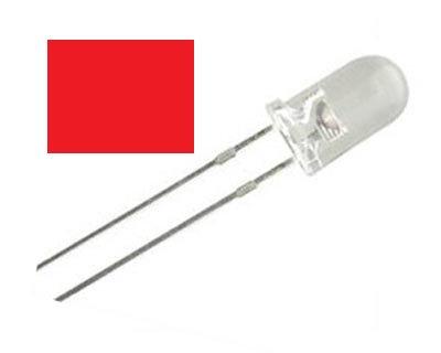 LED ROJO 100 pzas 5 mm