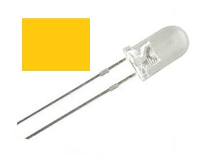 LED NARANJA 100 pzas 5 mm