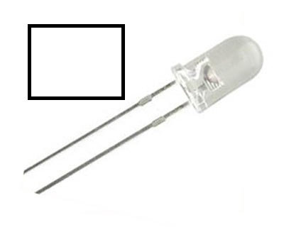 LED BLANCO 100 pzas 5 mm
