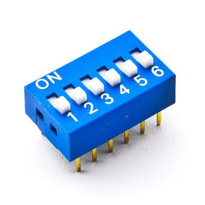 Dip Switch 6 vias
