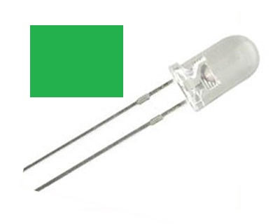 LED VERDE 100 pzas 5 mm