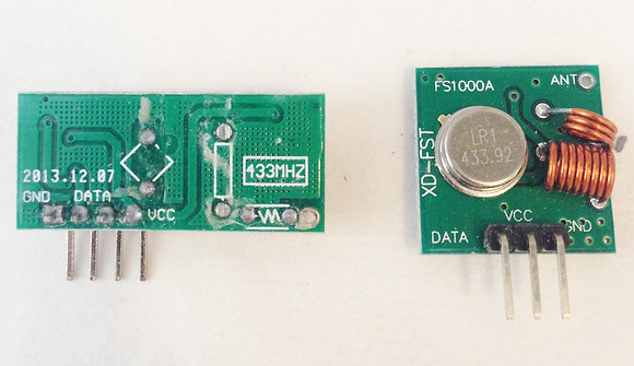 Emisor y receptor de RF