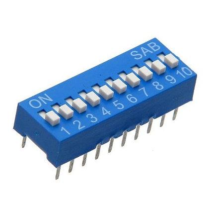 Dip Switch 8 vias