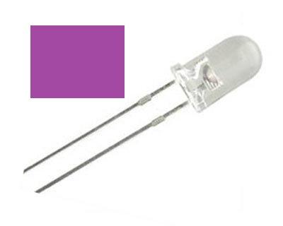 LED MORADO 100 pzas 5 mm