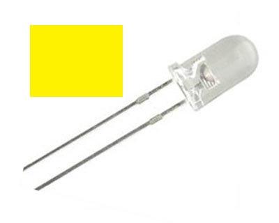 LED AMARILLO 100 pzas 5 mm