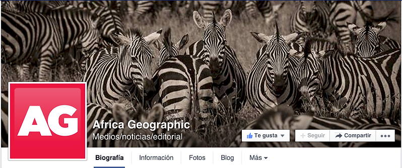 Alex F Buchholz Facebook cover for Africa Geographic