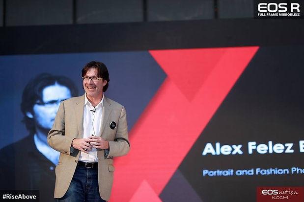 Alex F Buchholz presenting Canon EOS R