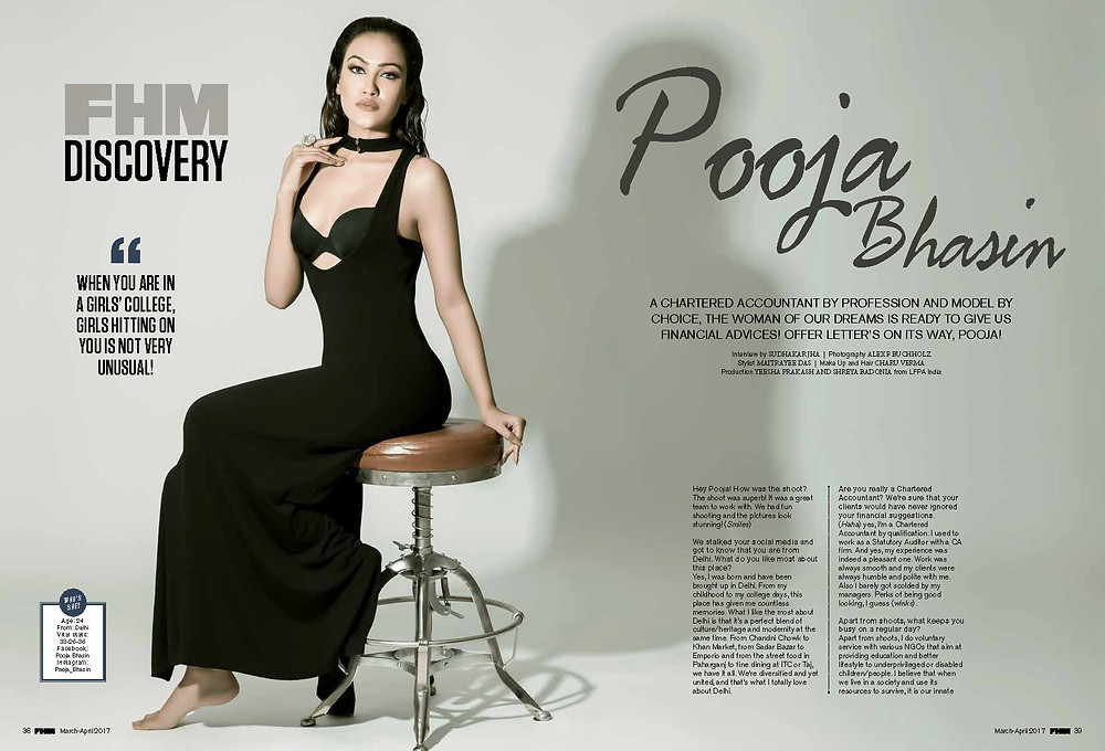 Pooja Bhasin for FHM India by Alex F Buchholz