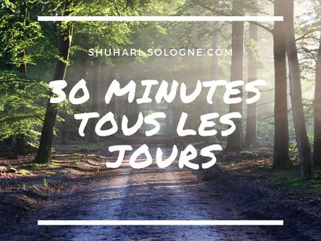 Les bénéfices à marcher 30 minutes tous les jours.