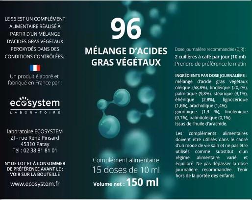 La base de la composition de l'Antiox 96 est une base d'acide gras végétal. Shuhari Sologne