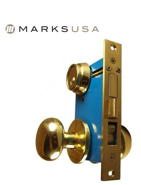 Marks USA 22AC Iron Gate Double Cylinder Mortise Lockset