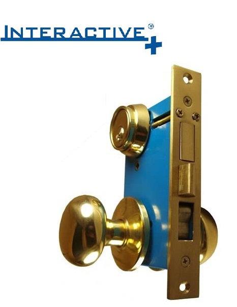 Mul-T-Lock Interactive+ Iron Gate Double Cylinder Mortise Lockset