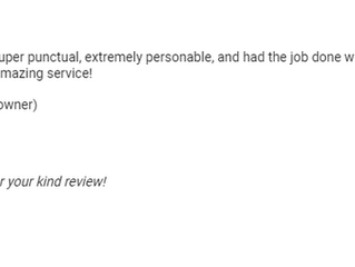 What Our Clients Say - Google Review