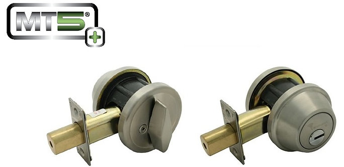 Mul-t-lock MT5+ Single Cylinder Grade 2 Deadbolt