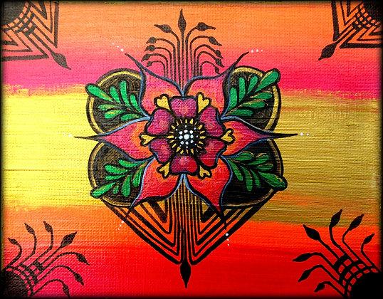 """Henna Floral"" (Print)"