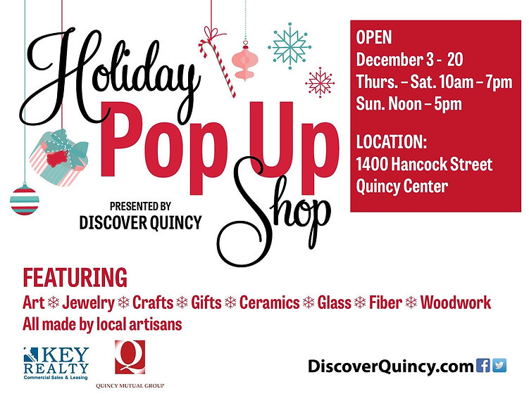 Discover Quincy Pop Up Gallery