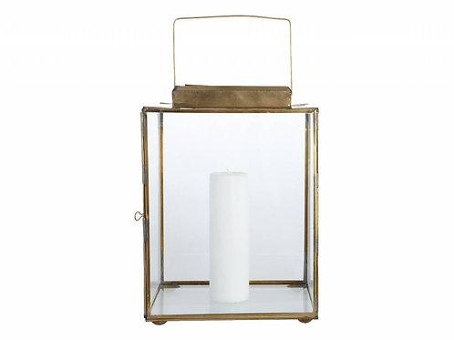 House Doctor / Cubix lantaarn | Klassieke, koperen lantaarn.