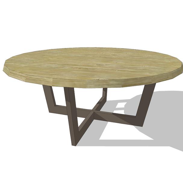 _Round oak table.