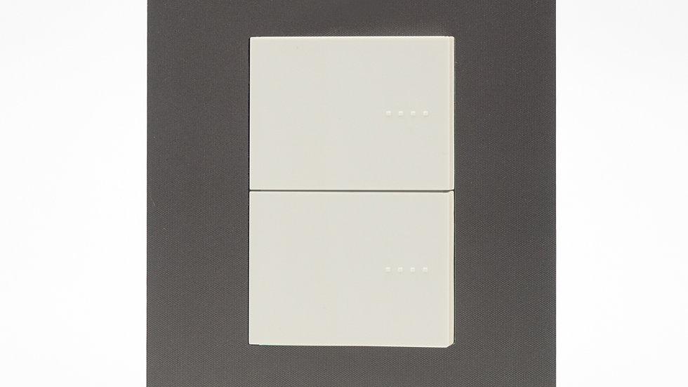 Placa Arte C/2 Teclas Blanco