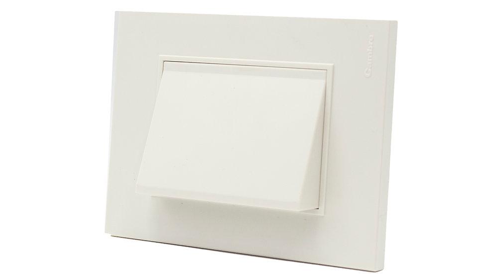 Orientador Acc/Led Cortesía Placa Bauhaus Blanco/Gris