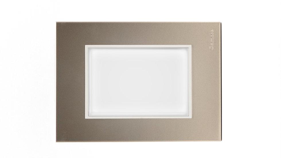 Cortesía Placa Bauhaus Colores Plata/Oro/Alum/Champagne