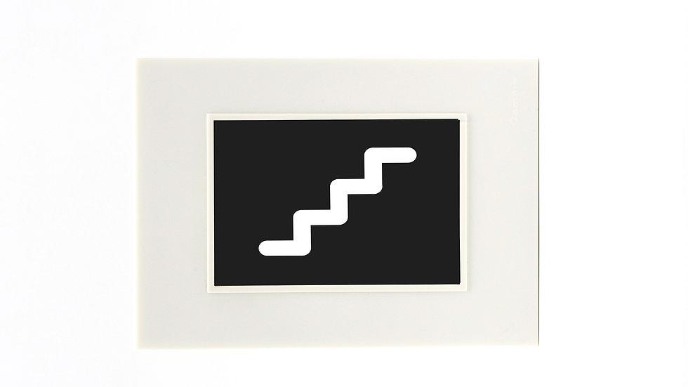 Copia de Placa Cambre Con Icono Se�aletica Rgb Escalera