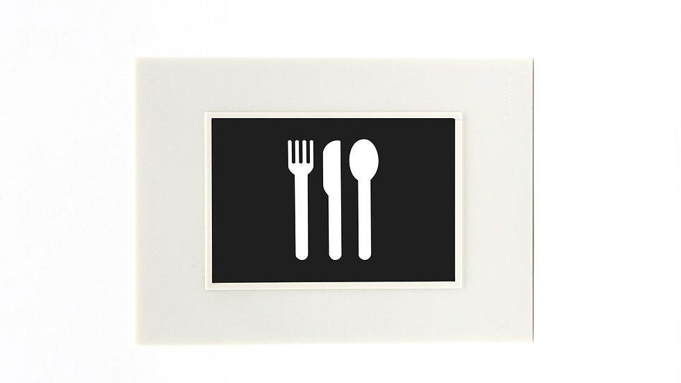 Placa Cambre Con Icono Señaletica Rgb Restaurante