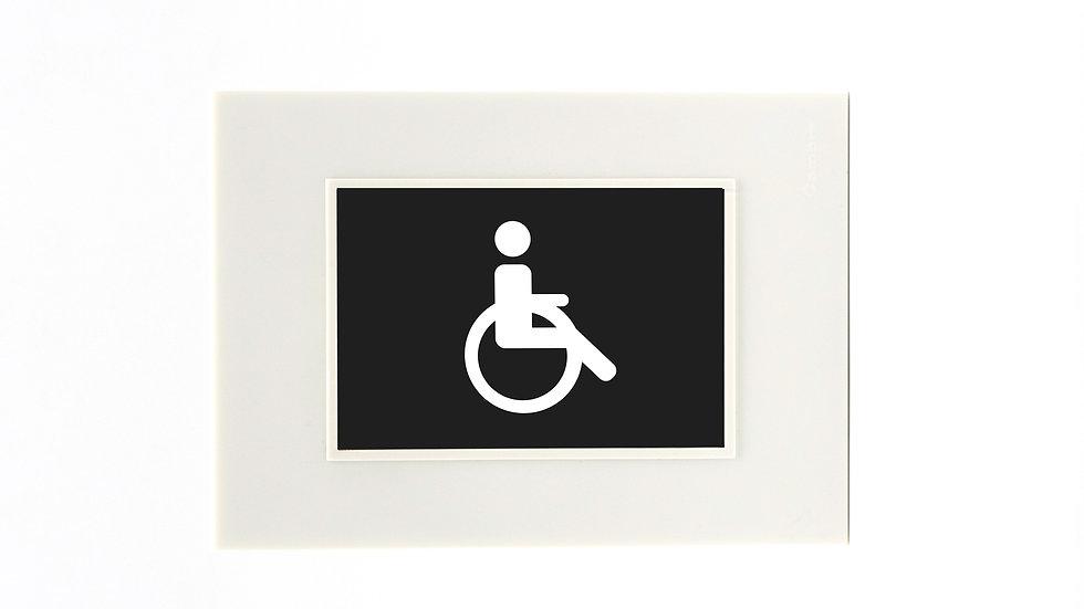 Placa Cambre Con Icono Señaletica Rgb Discapacitado