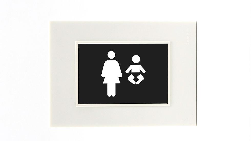 Placa Cambre Con Icono Señaletica Rgb Madre