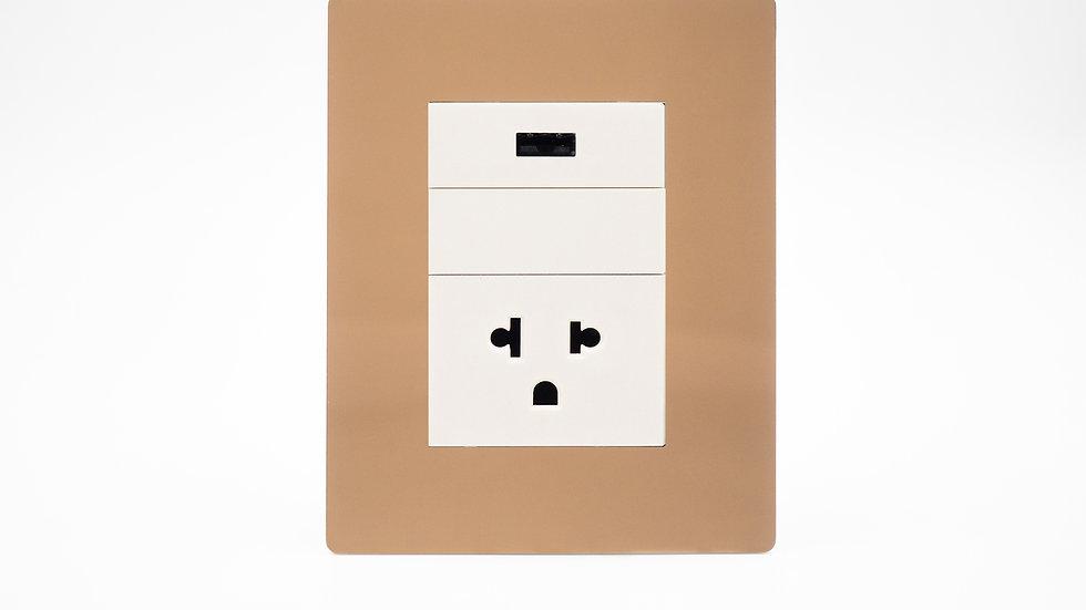 Placa Arte C/Euro Americano + USB