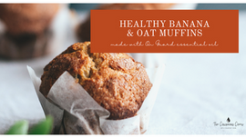Healthy Banana & Oat Muffins (with On Guard Essential Oil)