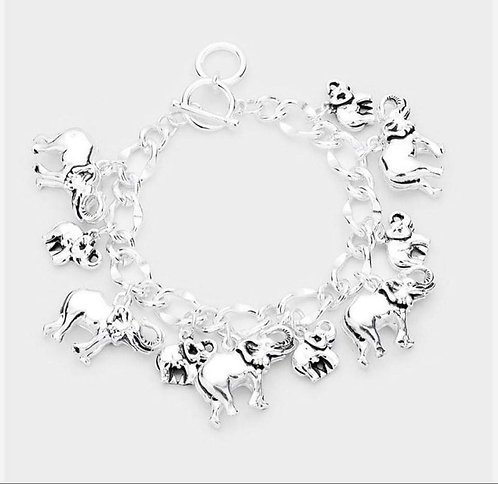 Trunk Up Elephant Bracelet
