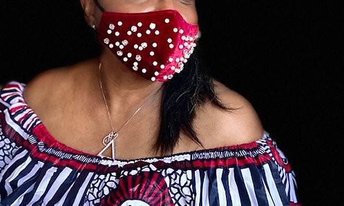 Crimson Pearl & Jewel Mask