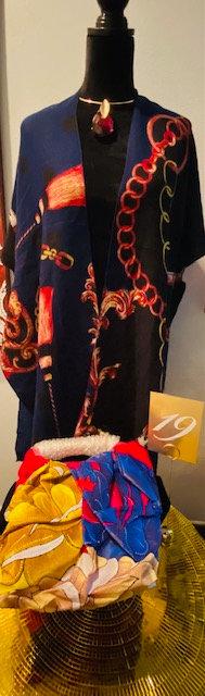 REVEALED - MYSTERY BOX #19 Kimona, Gold Leaf Necklace w/Earrings