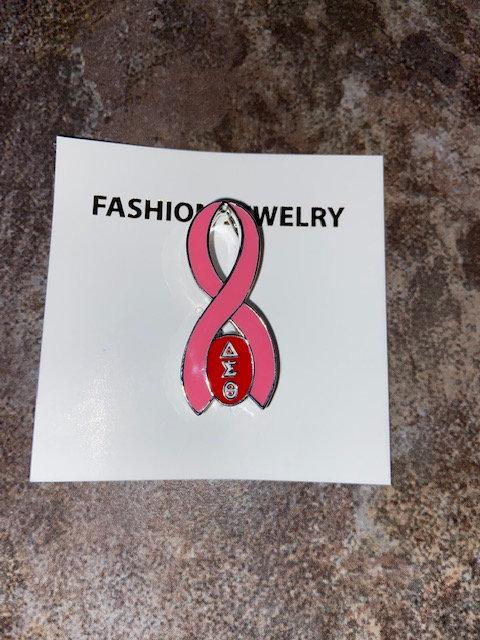 Delta Breast Cancer Awareness Pin